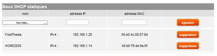 Adresse IP statique